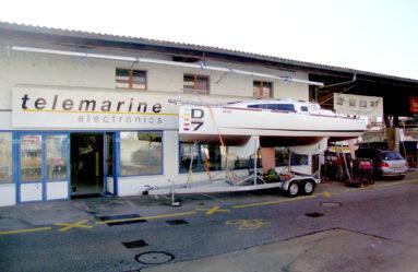 L'entrée de l'atelier, Route des Falaises 14, Neuchâtel