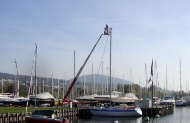 Travaux au port